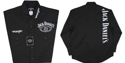 Wrangler® Jack Daniels Solid Embroidered Shirt