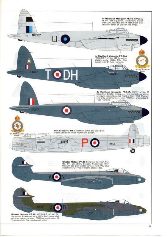 Photo Reconnaissance Aircraft of the RAF