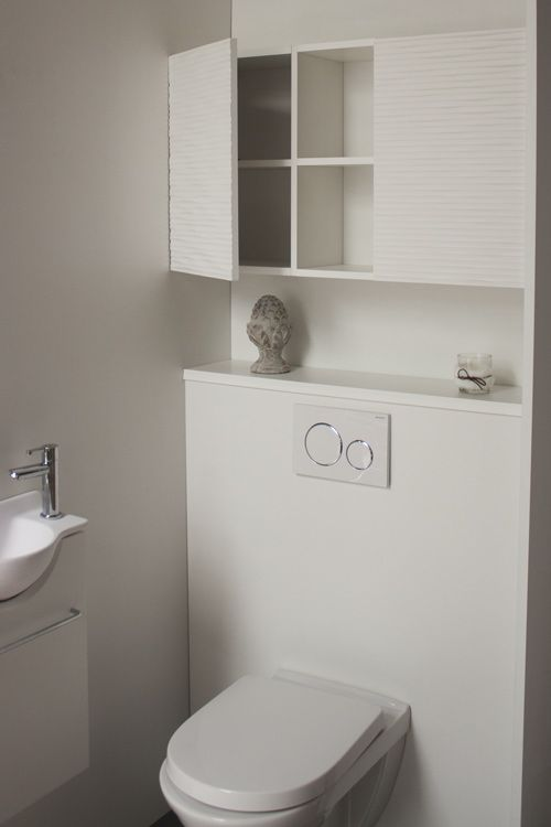 Rangement Astucieux Au Dessus Du Bati Support De Votre Toilette Suspendu Meubles Modulaires Et Personnalis Rangement Toilette Idee Deco Toilettes Rangement Wc