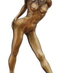 """Bronze-Skulptur """"Queen of Heart"""" von Jochen Bauer, http://www.kunstplaza.de/online-galerie/"""