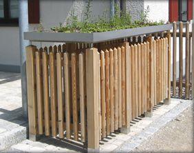 m lltonnenverkleidung selber bauen google suche garden pinterest suche. Black Bedroom Furniture Sets. Home Design Ideas