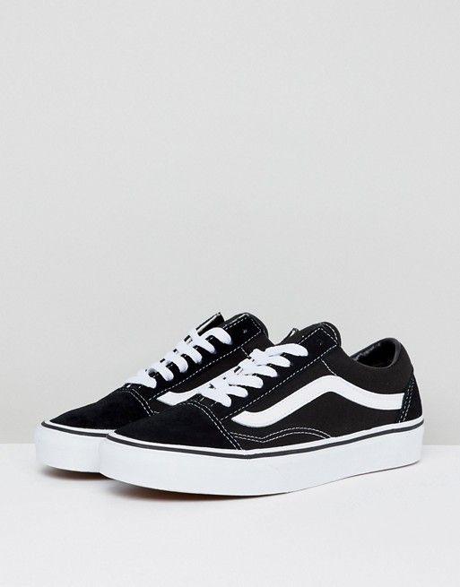 Vans Classic Old Skool Sneaker In Schwarz 37 Vans Classic Old Skool Lederschuhe Damen Sneaker