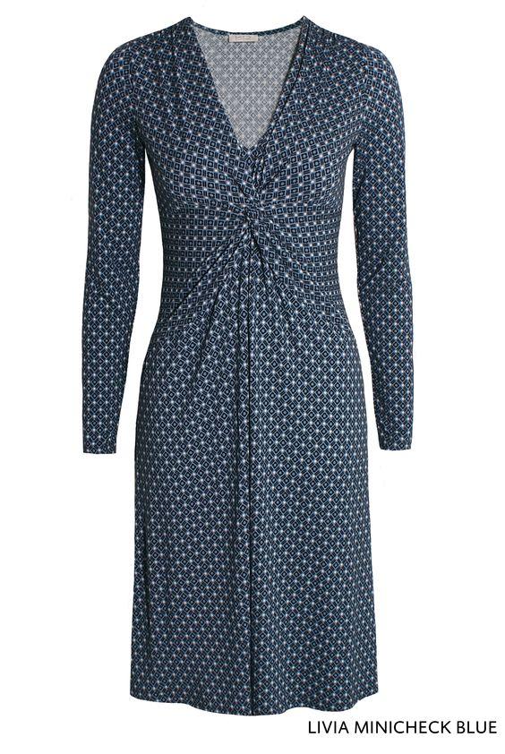 Livia Minicheck Blue von KD Klaus Dilkrath #kdklausdilkrath #kd #kd12 #dilkrath #KDKlausDilkrath #LiviaDress #blue #fashion #dress