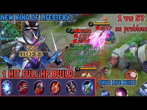 1 Hit Full Hp Build Dyrroth New Lifesteal King Mobile Legends Tv In 2020 Mobile Legends King Mobile Legend