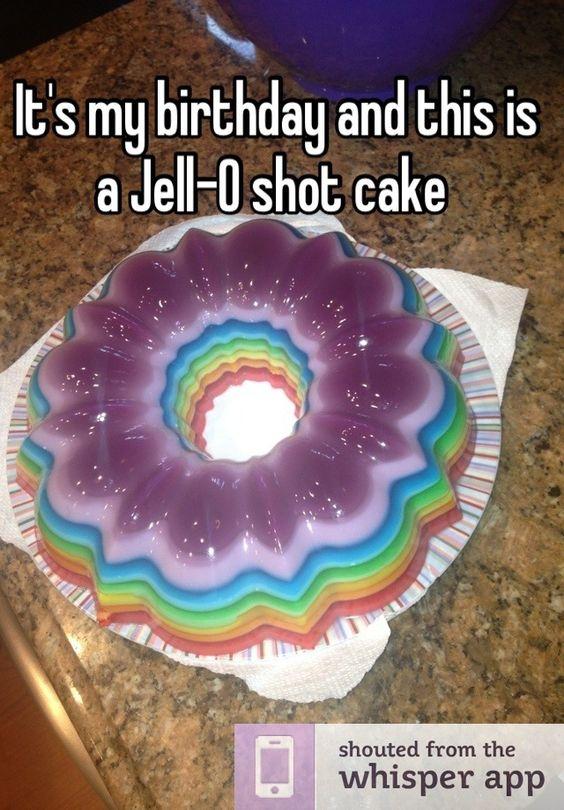 Spiked Rainbow Ribbon Salad | Recipe | Count, Birthdays ...