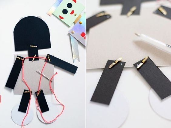 Bloesem kids | Kids craft - diy robot puppet: