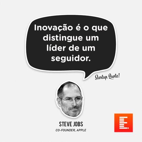 Inovação é o que distingue um líder de um seguidor.