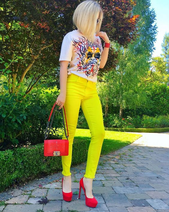 Bright Outfits For Summer outfit fashion casualoutfit fashiontrends