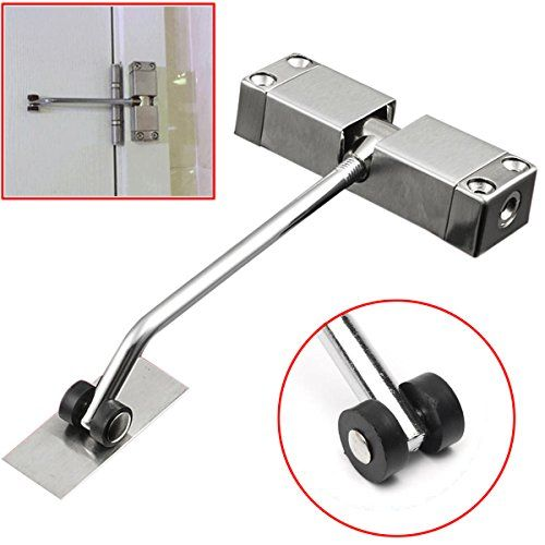 Sixdefly Automatic Mounted Spring Door Closer Stainless Steel Adjustable Surface Self Closing Door For Residenti Spring Door Closed Doors Stainless Steel Doors