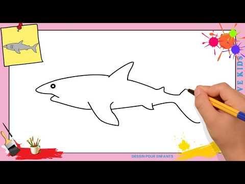 Dessin Requin Facile