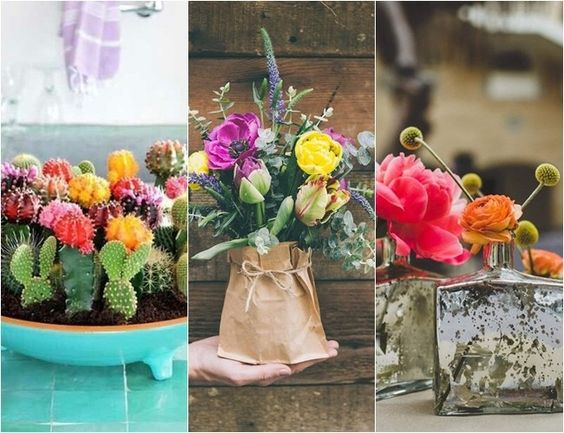 Flores: 9 centros de mesa bonitos de verdad