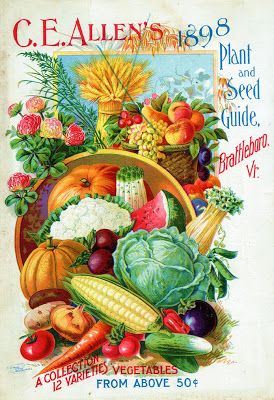 19th Century seed catalog covers: