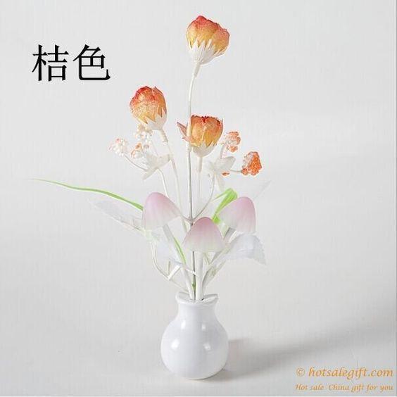 Creative custom LED mushroom rose type light control sensor light gift