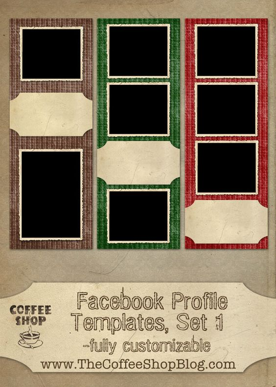 Free CoffeeShop Facebook Profile Templates! Photography - profile templates