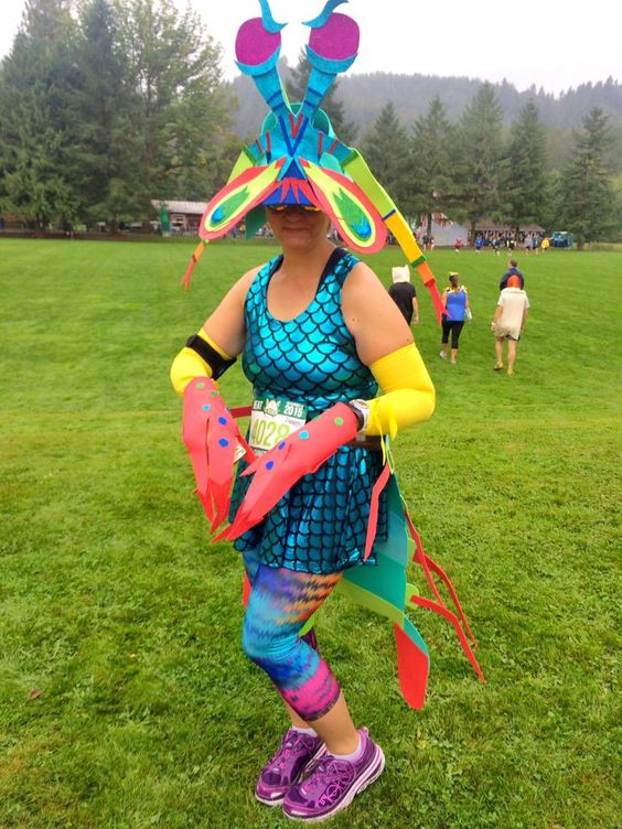This mantis shrimp won the costume contest that only exists in my mind.