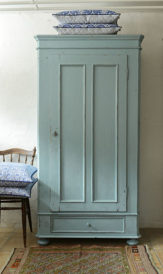For old TV Armoire (pale green) (distressed)