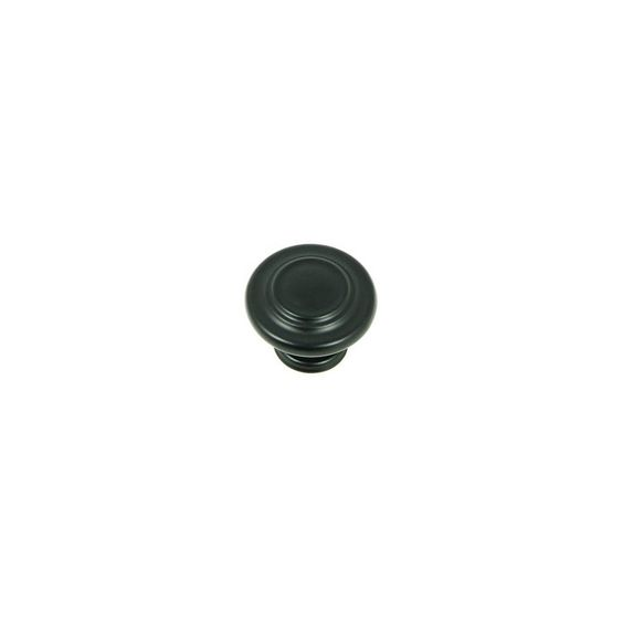 Stone Mill Hardware Princeton Matte Black Round Cabinet Knob