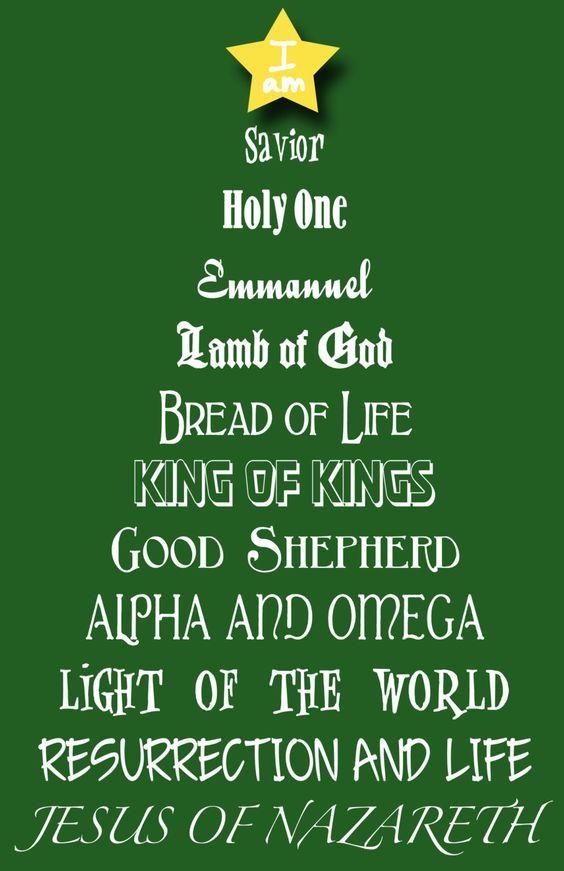 Names Of Jesus Jesus And Christmas Trees On Pinterest