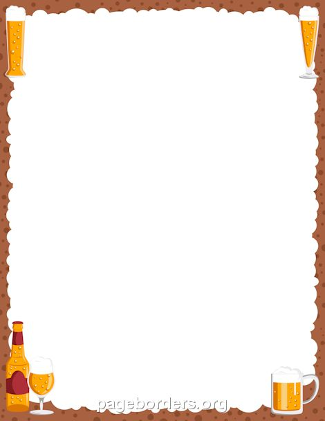 Printable beer border use the border in microsoft word or for Beer bottle picture frame