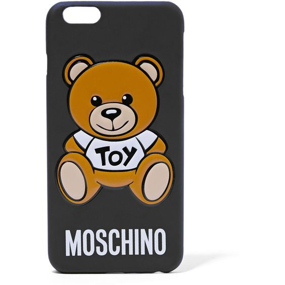 Moschino Silicone iPhone 6+ case ($60) ❤ liked on Polyvore featuring accessories, tech accessories, black, iphone cover case, moschino, iphone cases, silicon iphone case and iphone silicone case
