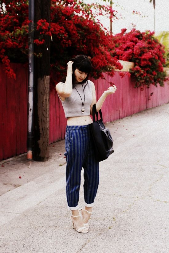 Minnie from The Stylish Wanderer carries The Sturdy Leather Tote by #AmericanApparel #Bloggers #TheStylishWanderer
