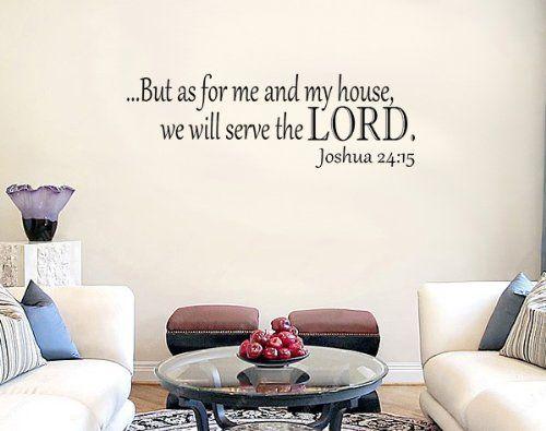"""Joshua 24:15 23"""" Inch KJV Bible Verse Vinyl Wall Decal Sticker Art (bestseller)"""