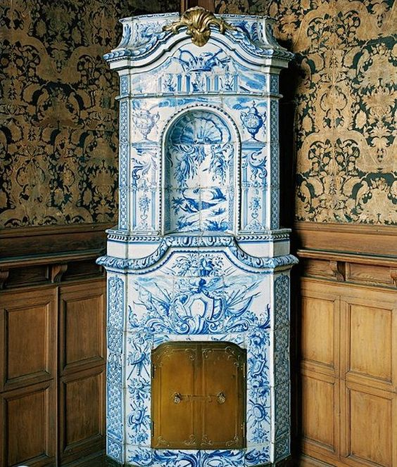 Stockholms Slott,  18th century  Manor Sweden Gustavian Tiled Stove  Architectural Photography by Michael Perlmutter