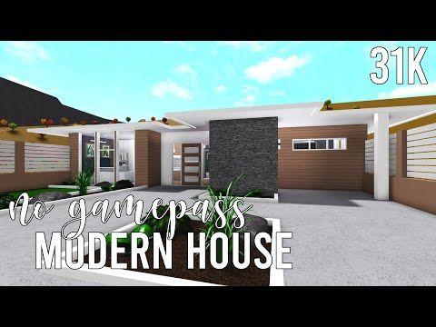 ROBLOX Bloxburg: No Gamepass Modern House 31k YouTube Modern