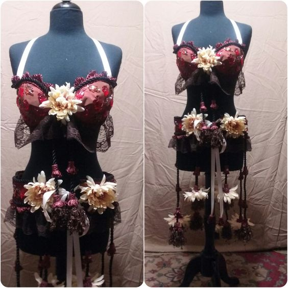 Autumn Inspired Bellydance Set by FoxyFancies on Etsy