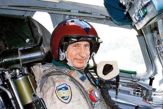 Putin in the jet