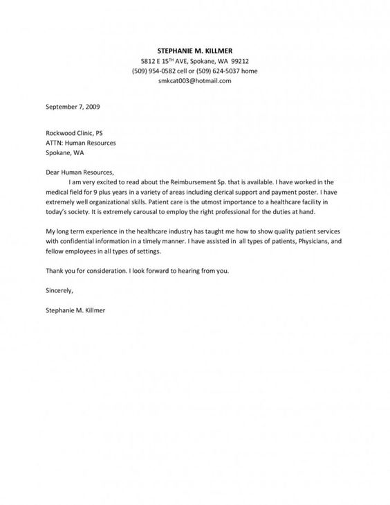 Application Cover Letter Registered Nurse | Resume Examples