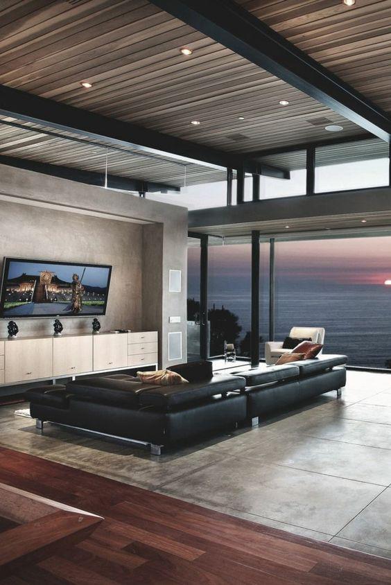 schlichte beleuchtung im luxus wohnzimmer interessantes design 10 deko ideen f r die wohnung. Black Bedroom Furniture Sets. Home Design Ideas