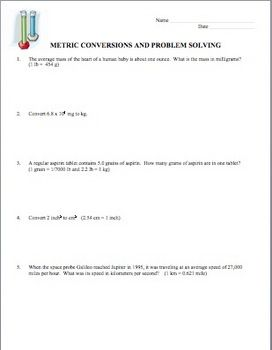 Printables Dimensional Analysis Physics Worksheet unit conversions dimensional analysis and scientific notation physics students need much practice when learning the concept of this is a worksheet 10 problems that invo