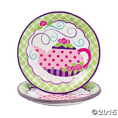 8 Tea Party Dinner Plates