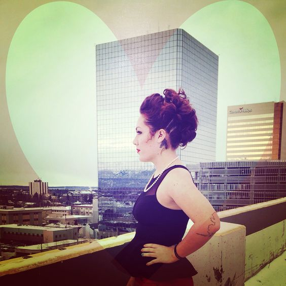 Another Mohawk updo style taken in Anchorage, Alaska!