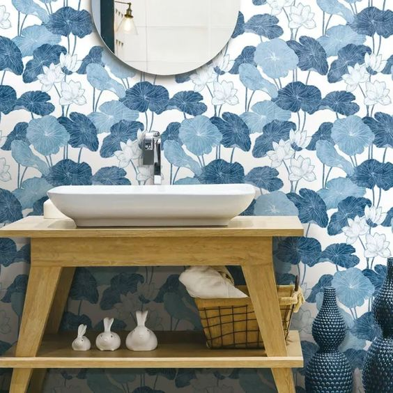 Roommates Lily Pad Peel Stick Wallpaper Peel And Stick Wallpaper Decor Room Visualizer