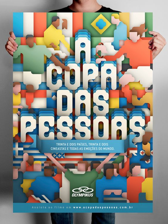 Graphic - COPA  It is a film about how fans feel about football. It was put together by agency Boca during the last World Cup using footage from 32 filmmakers, one each from the 32 participating nations, for Brazilian sports brand Olympikus.