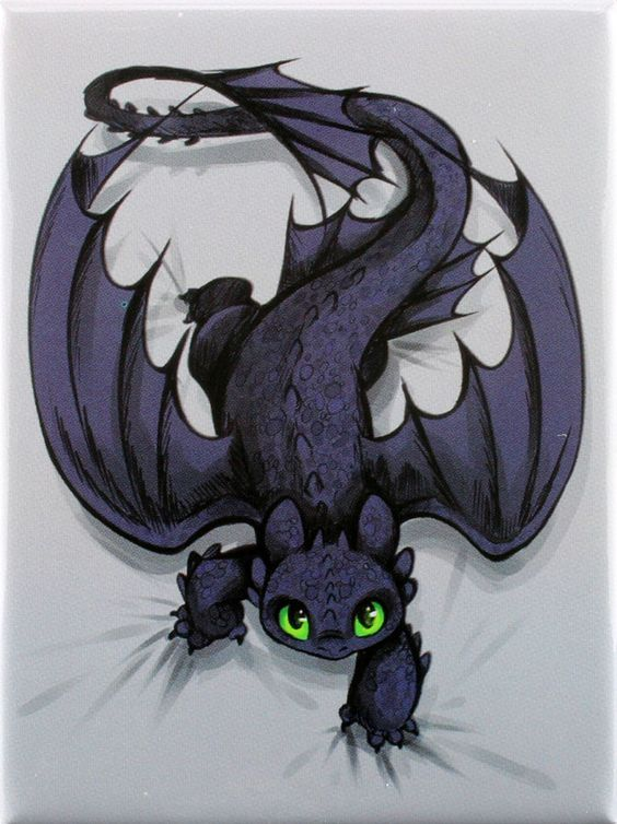 Toothless on the Prowl Magnet