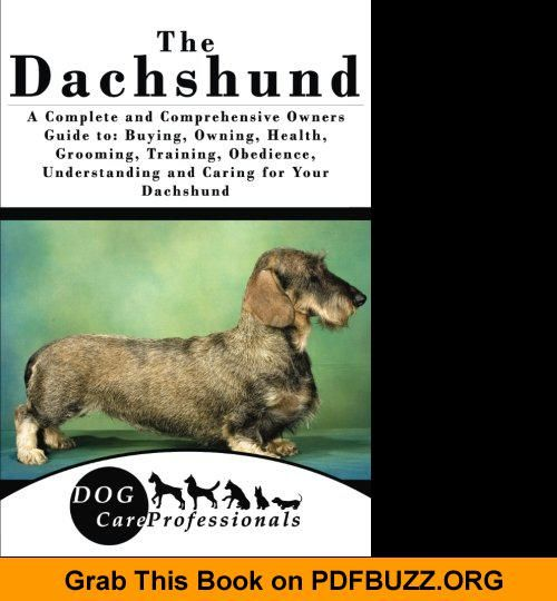 The Dachshund A Complete And Comprehensive Owners Guide To Buying