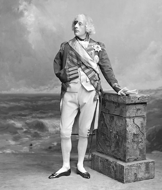 The Hon William Reginald Fitzwilliam (1862-1906) as Admiral Lord Nelson.