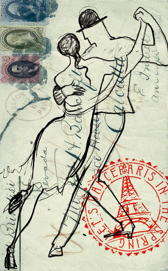 Tango http://www.etsy.com/listing/88893075/mixed-technic-watercolor-retro-drawing