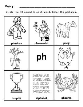 Printables Ph Worksheet student emergent readers and ph on pinterest digraph worksheets sh ch th wh ee oo