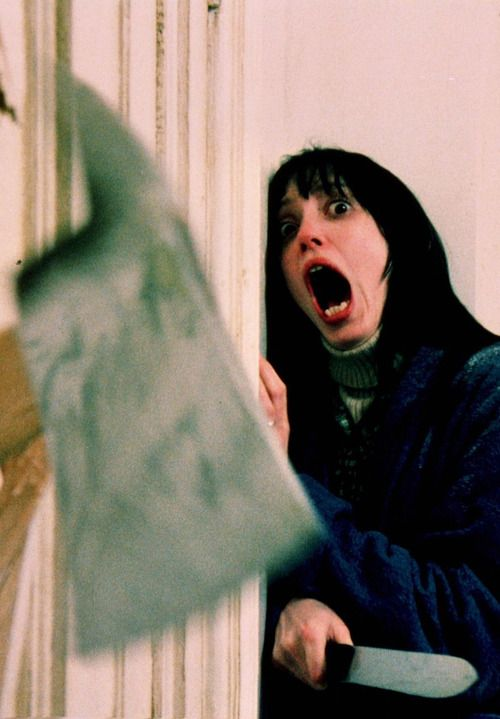 Shelley Duvall. I don't know why, but her facial expressions have always freaked me out more than the actual movie.