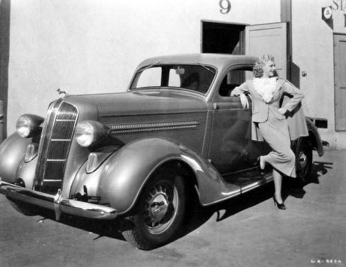 misslindsaylane:  Ginger Rogers and her 1937Dodge.