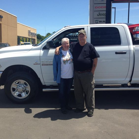Congratulations to this wonderful couple on their new RAM 2500 Truck. Thanks for your business. #happyclient #kingstondodge #ramtruck #ram2500