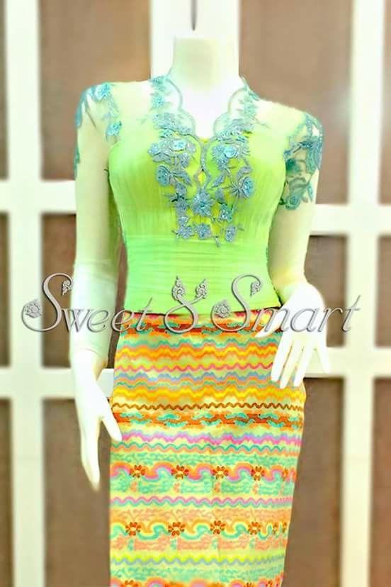 Myanmar Dress Myanmar Dress Pinterest Dresses