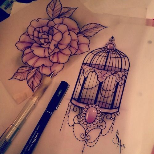 birdcage tattoos gallery - Google Search