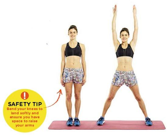 JUMPING JACK Areas trained: LEGS, SHOULDERS