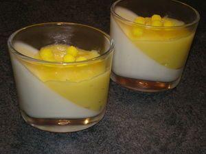 Panna cotta au citron et lemon curd