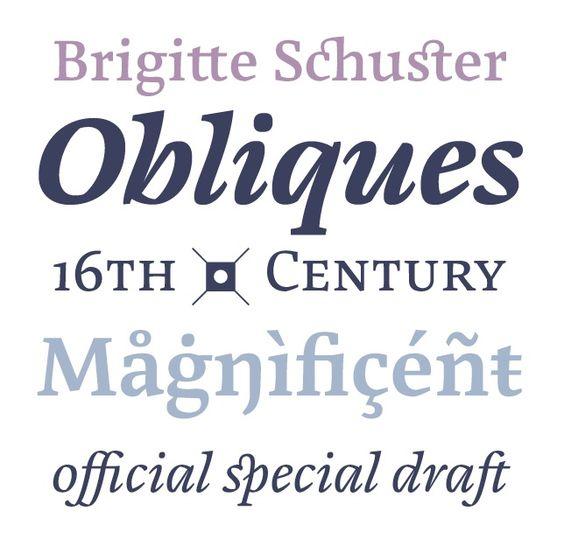 #typo #typedesign Textschrift Cardamon von Brigitte Schuster